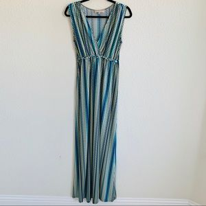 Philosophy blue Stripe/circular print Maxi dress L